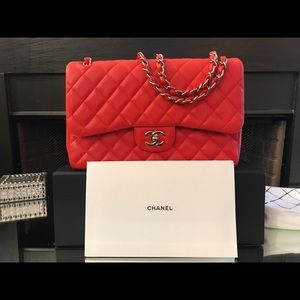 Red Chanel Medium Caviar FlapBag